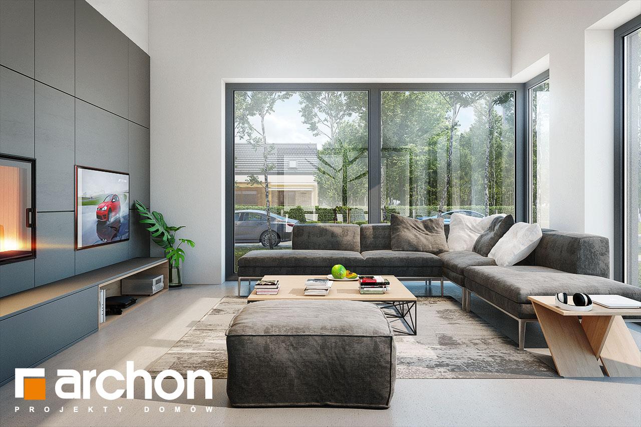 Проект дома ARCHON+ Дом в галантусах (Г2) дневная зона (визуализация 1 вид 3)