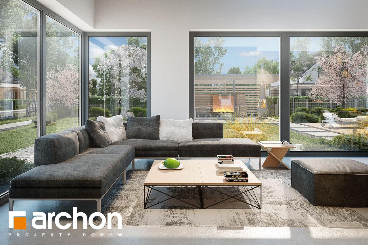 Проект дома ARCHON+ Дом в галантусах (Г2) дневная зона (визуализация 1 вид 4)