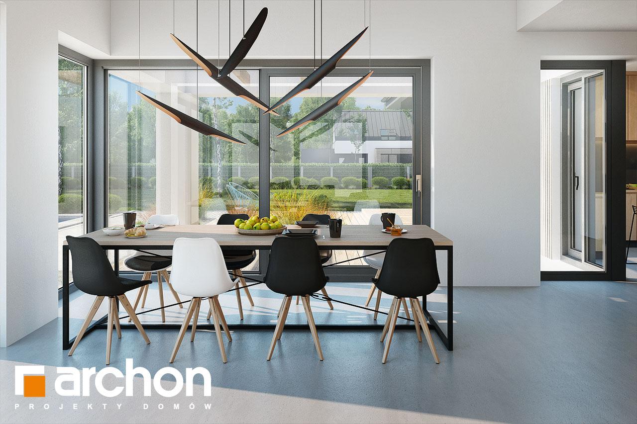 Проект дома ARCHON+ Дом в галантусах (Г2) дневная зона (визуализация 1 вид 5)