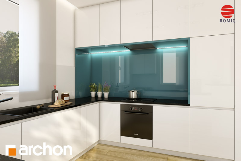Проект будинку ARCHON+ Будинок під каркасом (H) вер.2 аранжування кухні 1 від 2