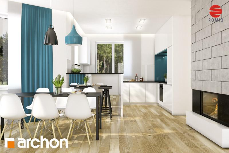 Проект дома ARCHON+ Дом под каркасом (H) ver.2 аранжировка кухни 1 вид 1
