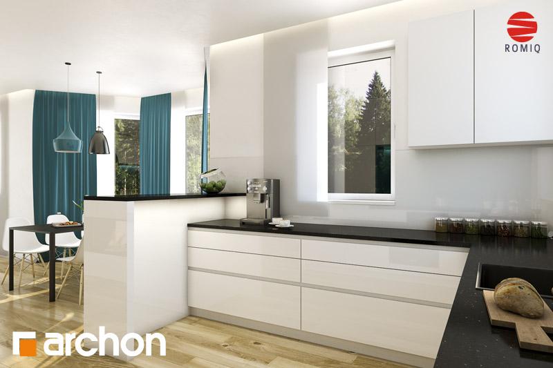 Проект дома ARCHON+ Дом под каркасом (H) ver.2 аранжировка кухни 1 вид 3