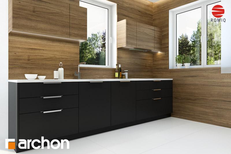 Проект будинку ARCHON+ Будинок під каркасом (H) вер.2 аранжування кухні 2 від 3