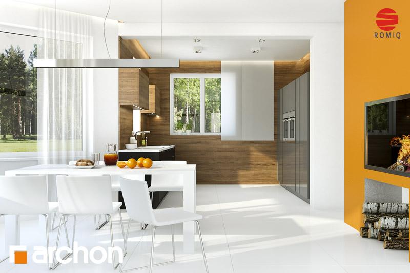 Проект дома ARCHON+ Дом под каркасом (H) ver.2 аранжировка кухни 2 вид 1