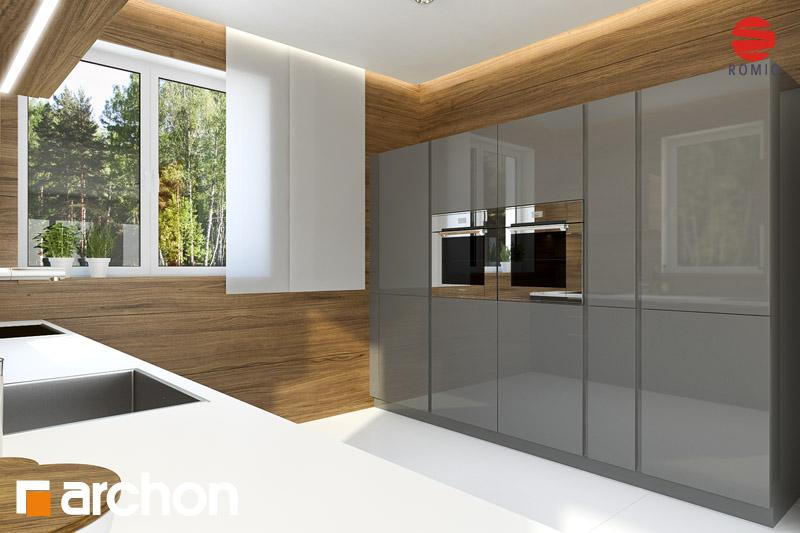 Проект дома ARCHON+ Дом под каркасом (H) ver.2 аранжировка кухни 2 вид 2