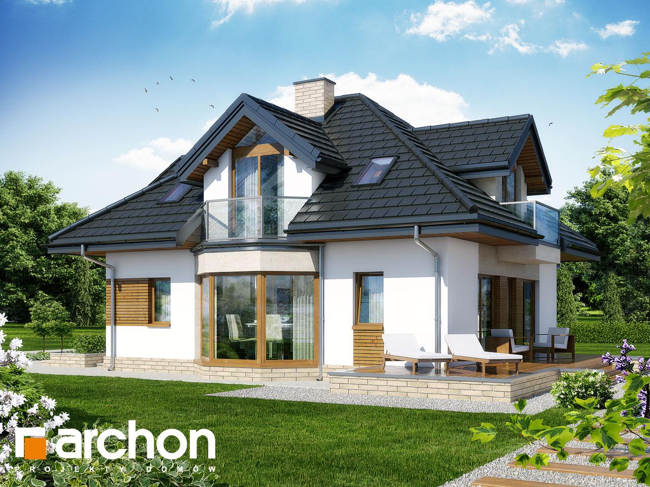 Проект дома ARCHON+ Дом под каркасом (H) ver.2 Вид 2
