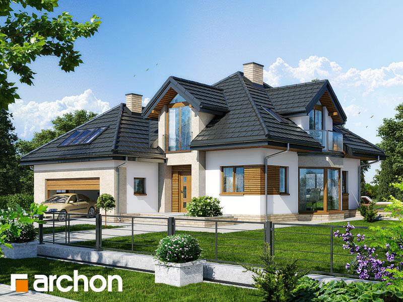 Проект дома ARCHON+ Дом под каркасом (H) ver.2 Вид 1