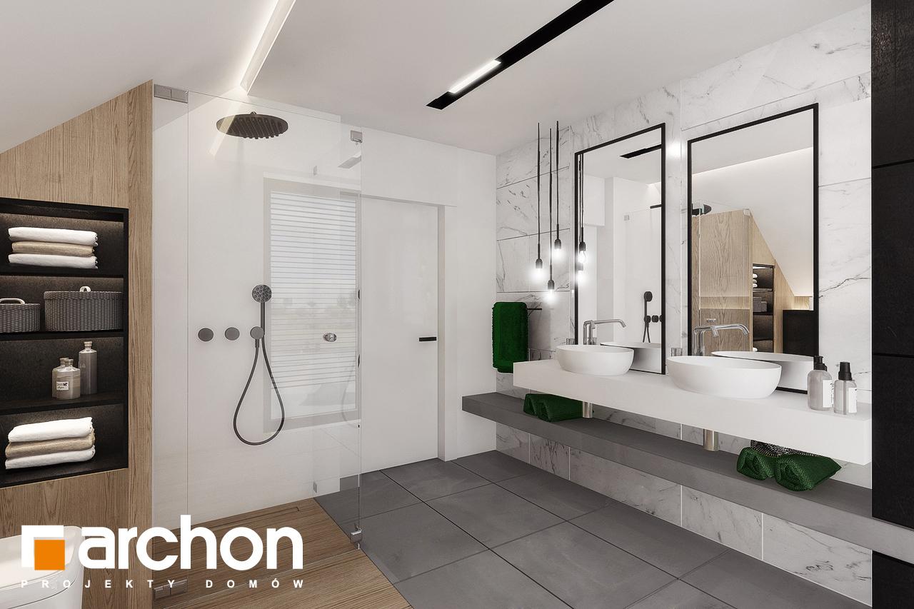 Проект будинку ARCHON+ Будинок в рабатках (Г2) візуалізація ванни (візуалізація 3 від 1)