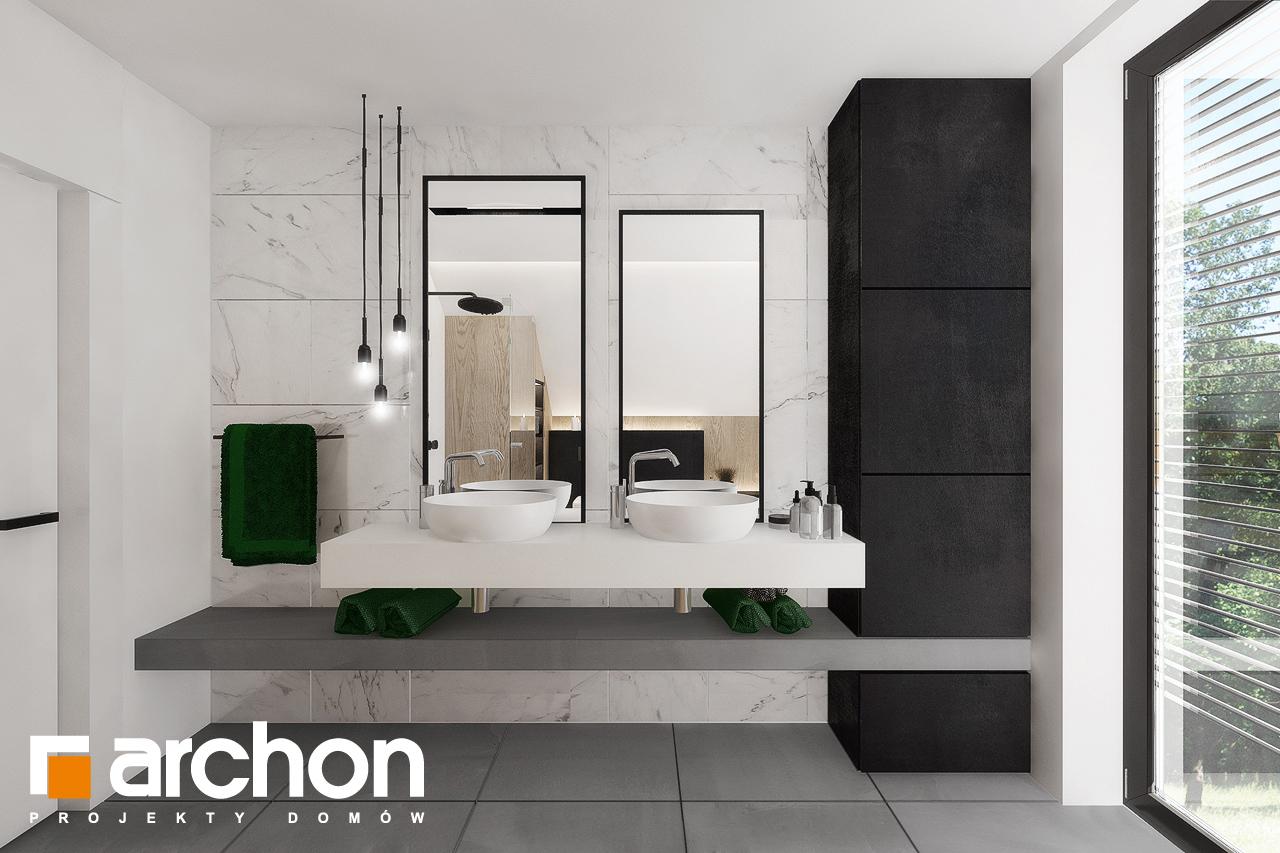 Проект будинку ARCHON+ Будинок в рабатках (Г2) візуалізація ванни (візуалізація 3 від 2)