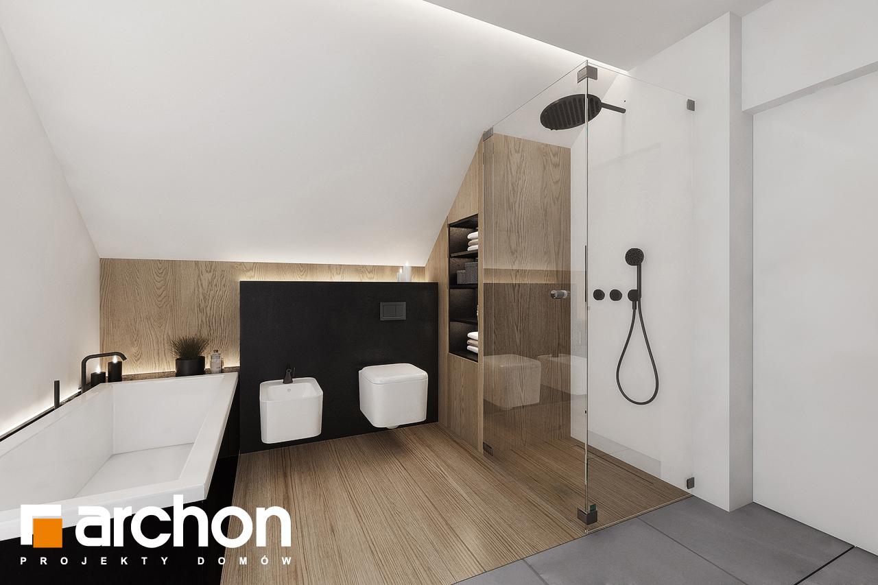 Проект будинку ARCHON+ Будинок в рабатках (Г2) візуалізація ванни (візуалізація 3 від 3)