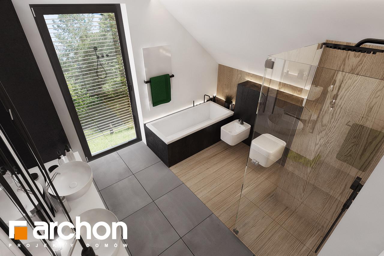 Проект будинку ARCHON+ Будинок в рабатках (Г2) візуалізація ванни (візуалізація 3 від 4)
