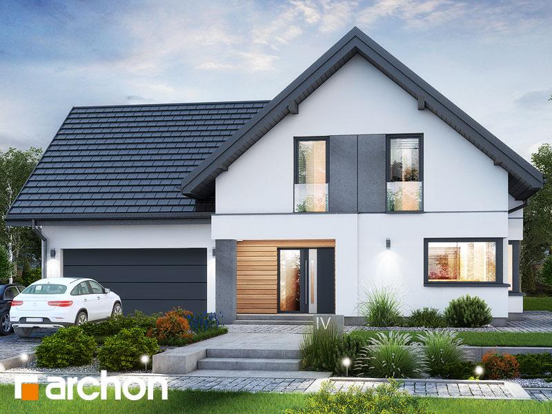 Проект будинку ARCHON+ Будинок в рабатках (Г2) Вид 1