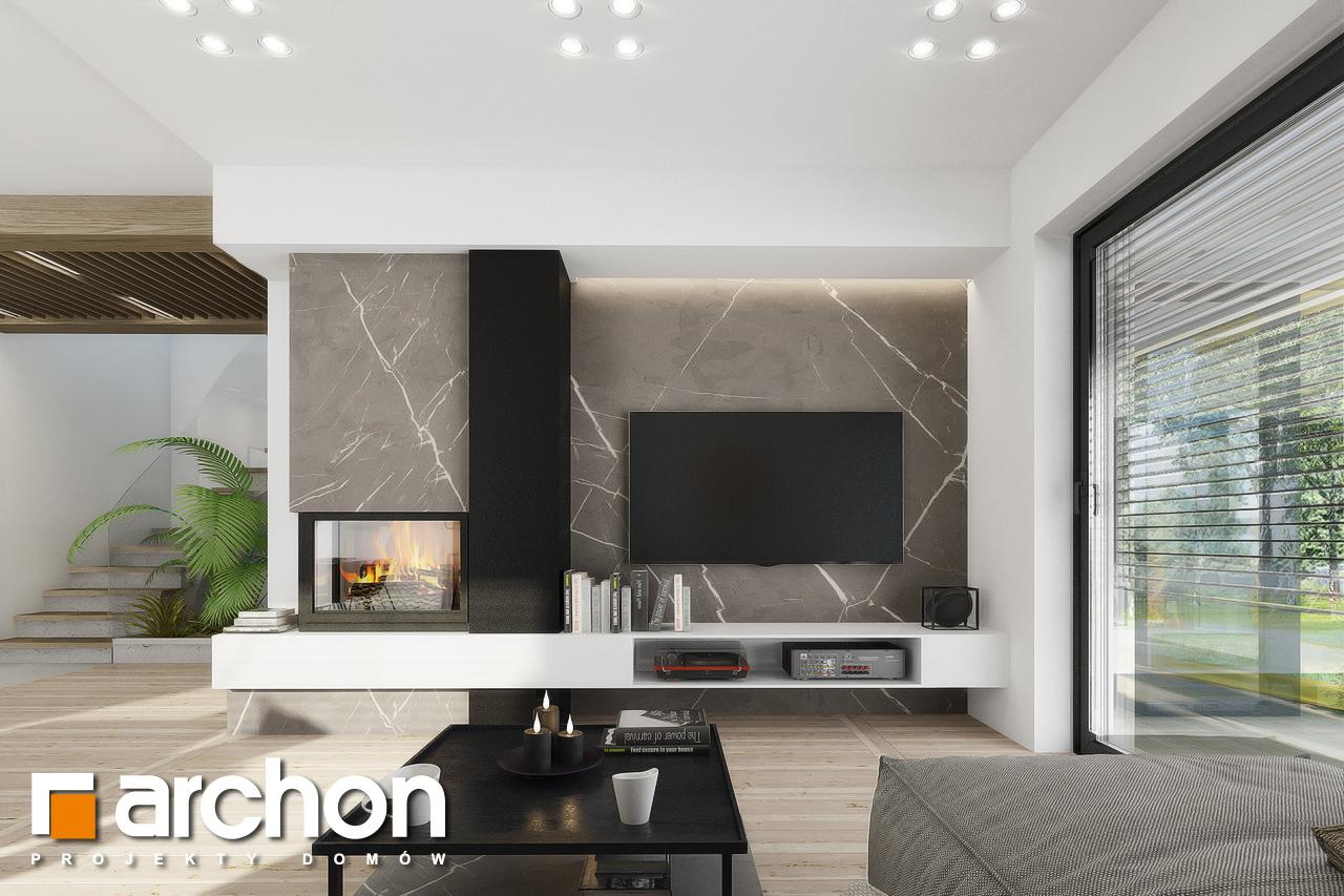Проект будинку ARCHON+ Будинок в рабатках (Г2) денна зона (візуалізація 1 від 4)