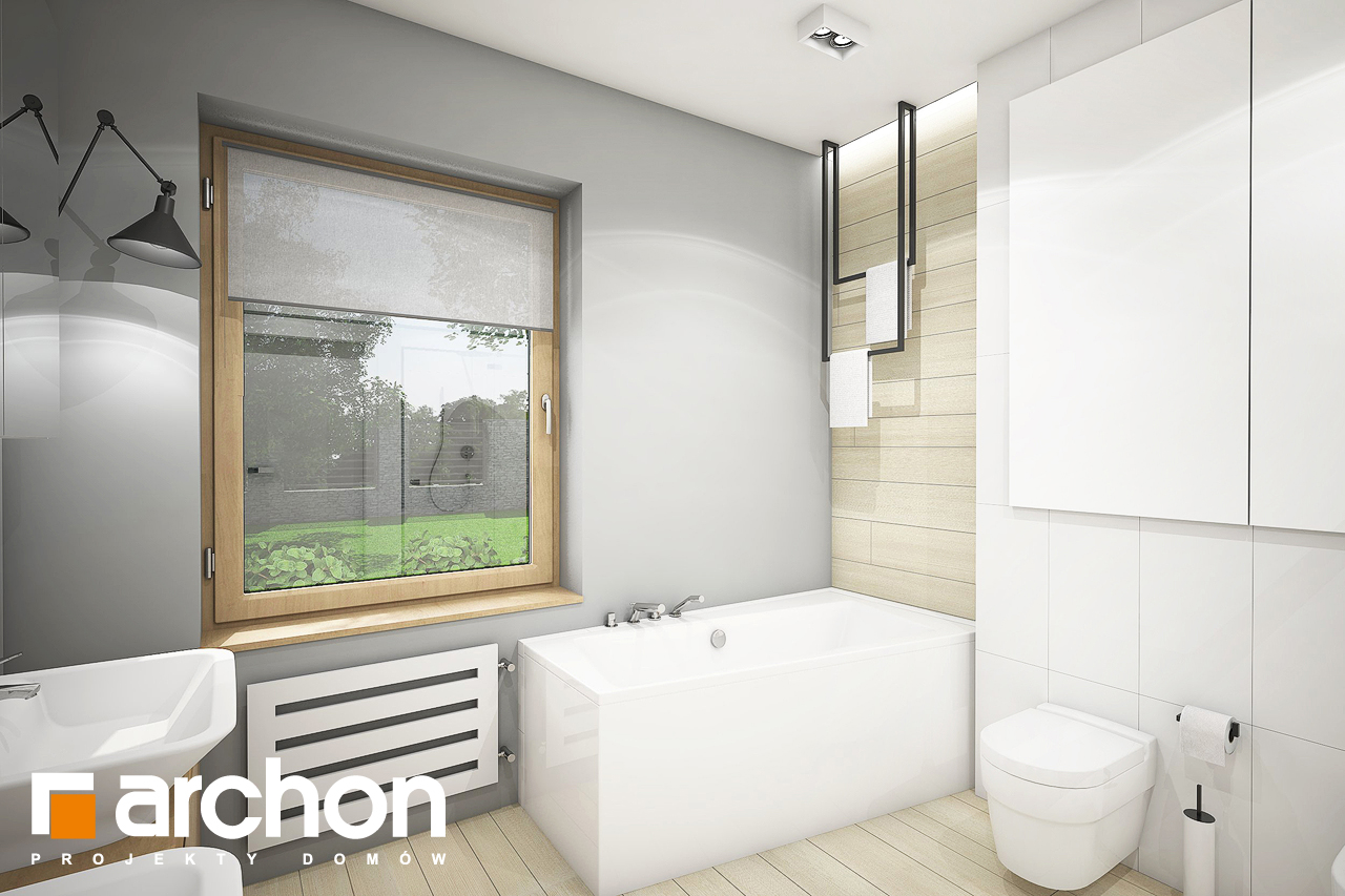 Проект будинку ARCHON+ Будинок в андромедах 3 (Г2) візуалізація ванни (візуалізація 3 від 1)
