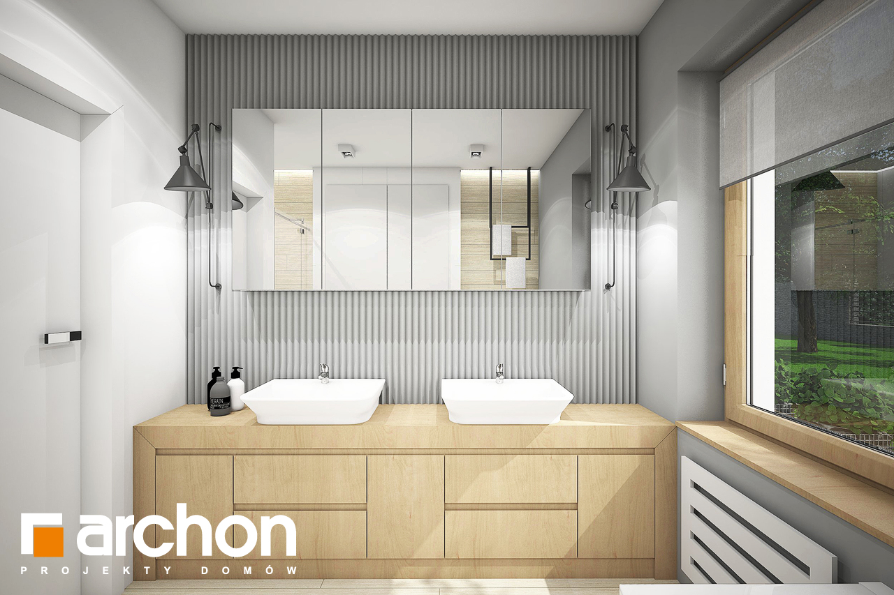 Проект будинку ARCHON+ Будинок в андромедах 3 (Г2) візуалізація ванни (візуалізація 3 від 3)
