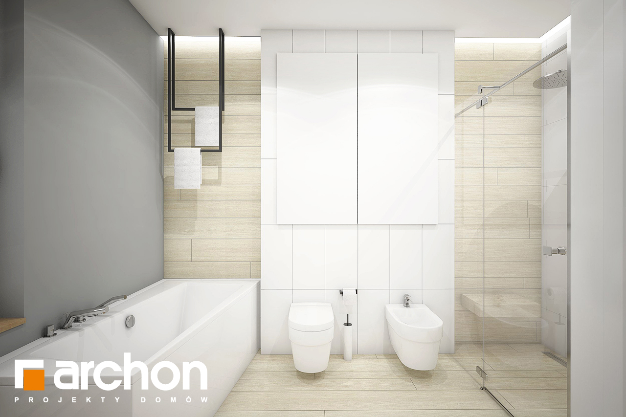 Проект дома ARCHON+ Дом в андромедах 3 (Г2) визуализация ванной (визуализация 3 вид 2)
