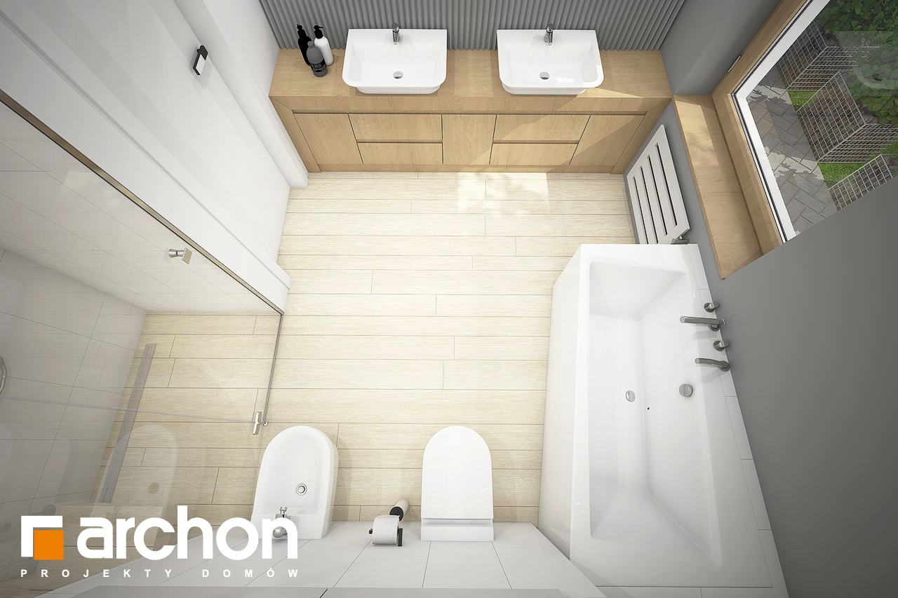 Проект дома ARCHON+ Дом в андромедах 3 (Г2) визуализация ванной (визуализация 3 вид 4)
