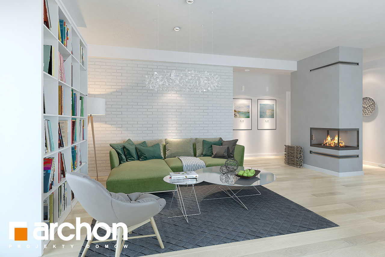 Проект дома ARCHON+ Дом в андромедах 3 (Г2) дневная зона (визуализация 1 вид 2)