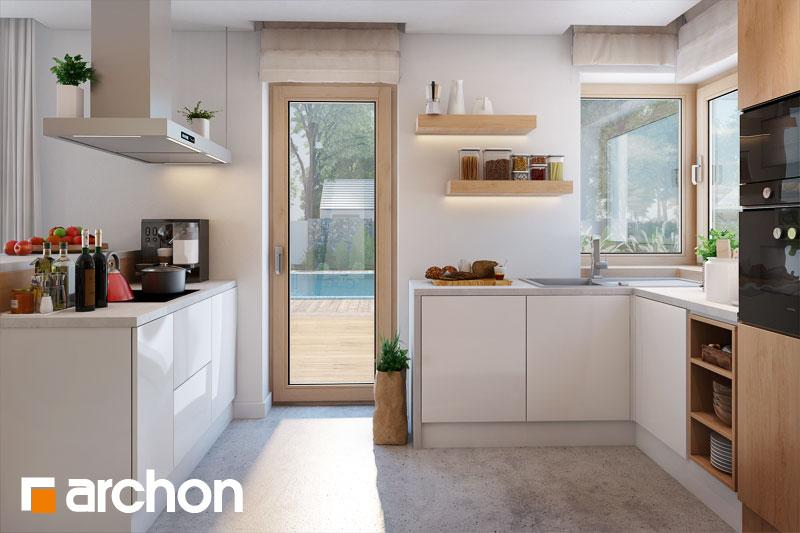 Проект будинку ARCHON+ Будинок в аурорах 2 візуалізація кухні 1 від 2