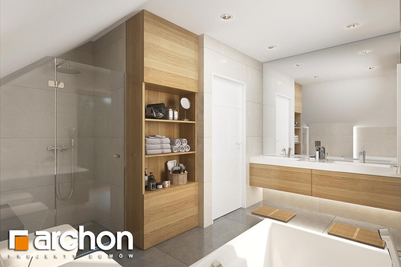 Проект будинку ARCHON+ Будинок в аурорах 2 візуалізація ванни (візуалізація 3 від 2)