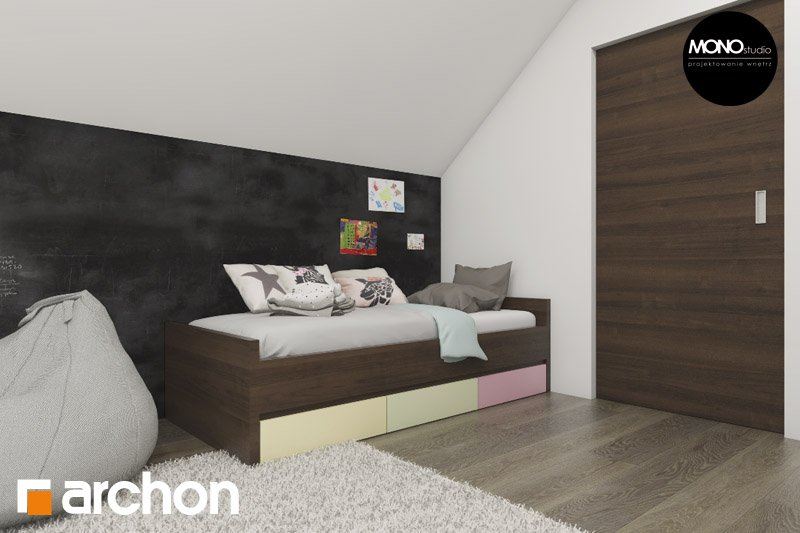 Проект будинку ARCHON+ Будинок в аурорах 2 нічна зона (візуалізація 2 від 4)