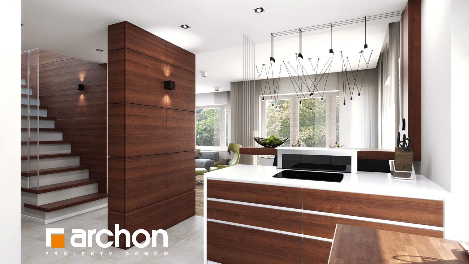 Проект будинку ARCHON+ Будинок в аурорах 2 денна зона (візуалізація 2 від 8)