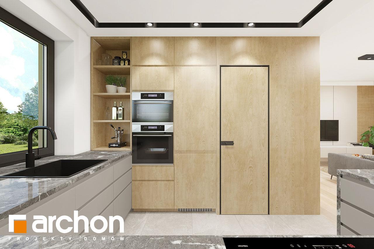 Проект будинку ARCHON+ Будинок в малинівці 2 (Г) візуалізація кухні 1 від 2
