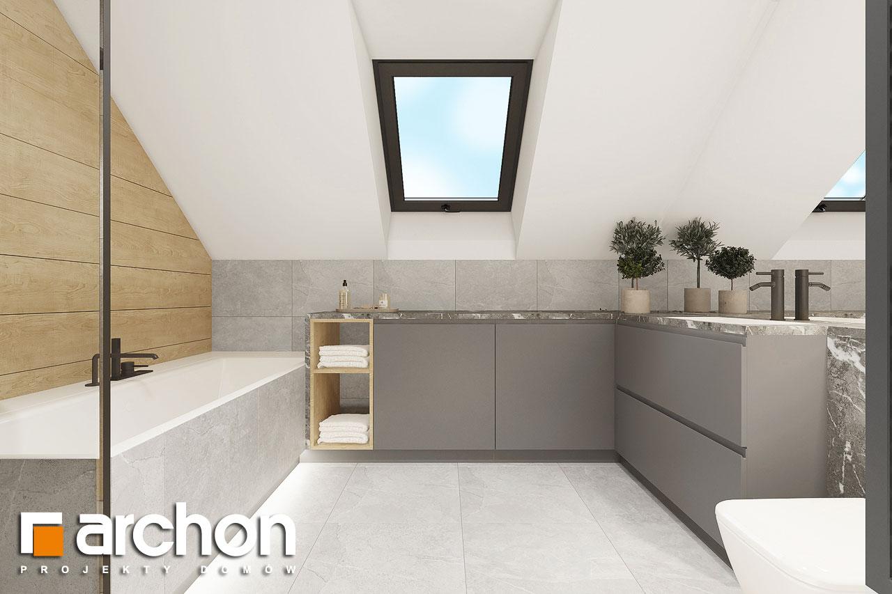 Проект будинку ARCHON+ Будинок в малинівці 2 (Г) візуалізація ванни (візуалізація 3 від 1)