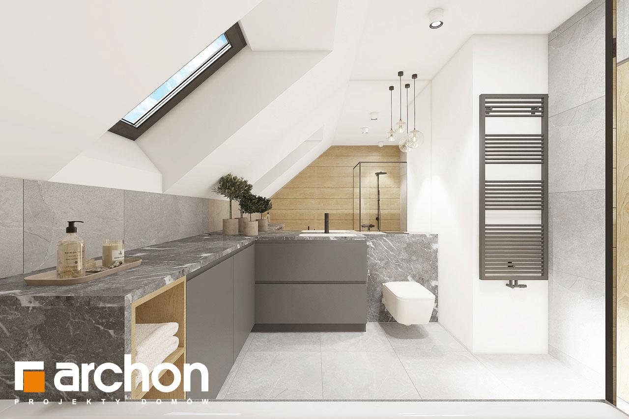 Проект будинку ARCHON+ Будинок в малинівці 2 (Г) візуалізація ванни (візуалізація 3 від 2)