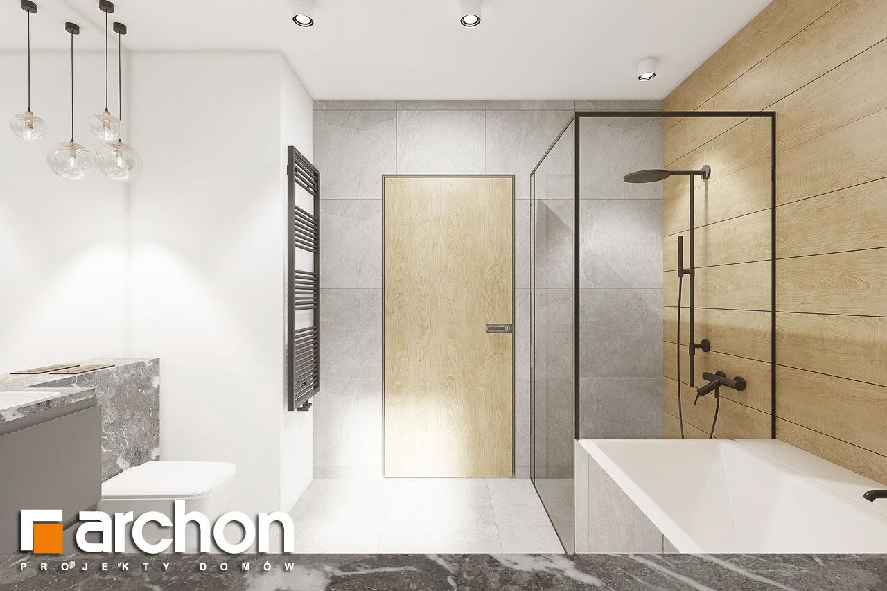 Проект будинку ARCHON+ Будинок в малинівці 2 (Г) візуалізація ванни (візуалізація 3 від 3)