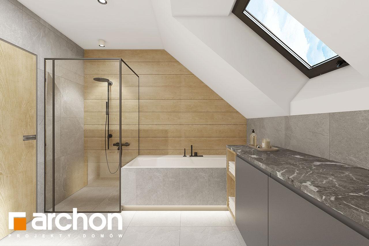 Проект будинку ARCHON+ Будинок в малинівці 2 (Г) візуалізація ванни (візуалізація 3 від 4)