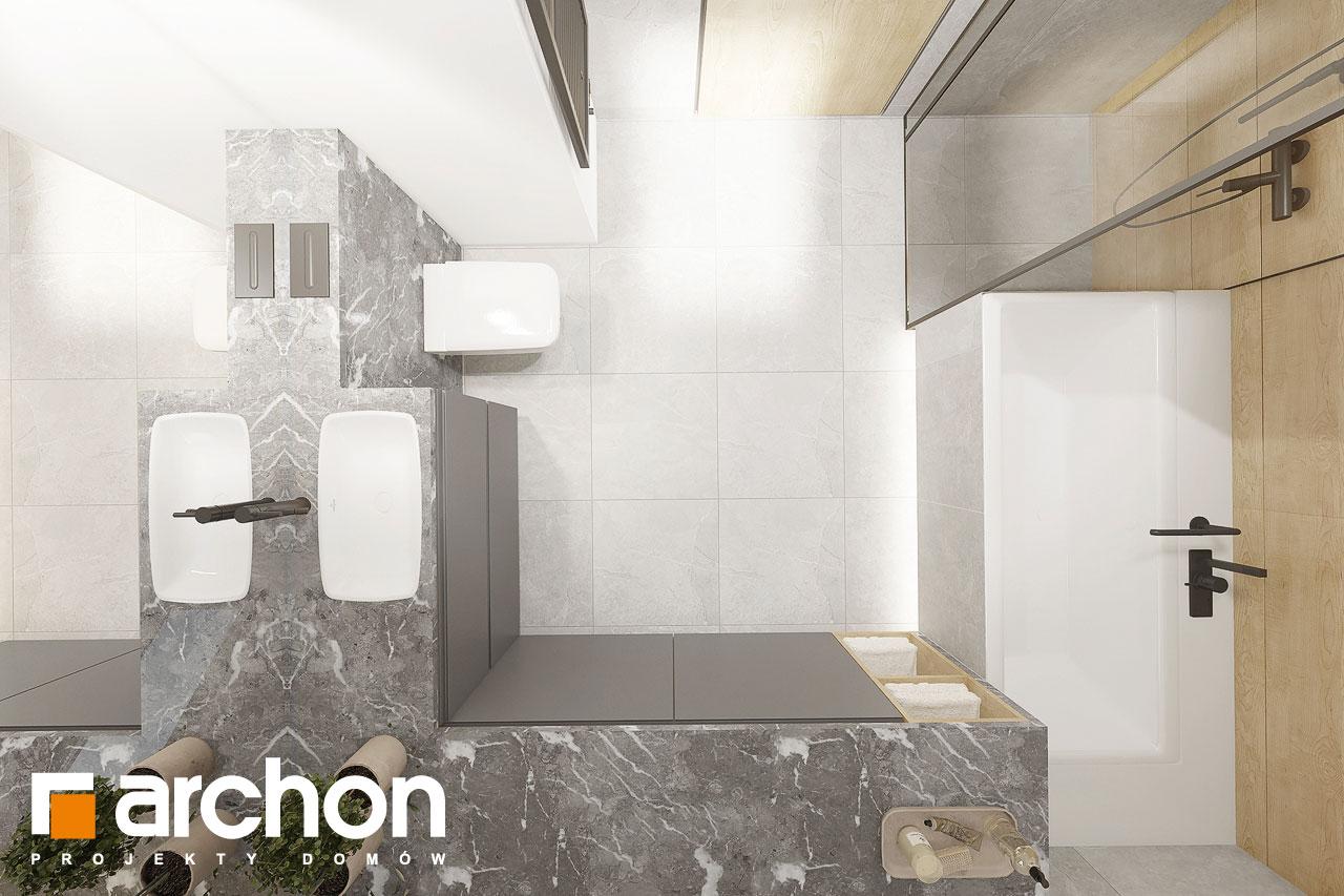 Проект будинку ARCHON+ Будинок в малинівці 2 (Г) візуалізація ванни (візуалізація 3 від 5)