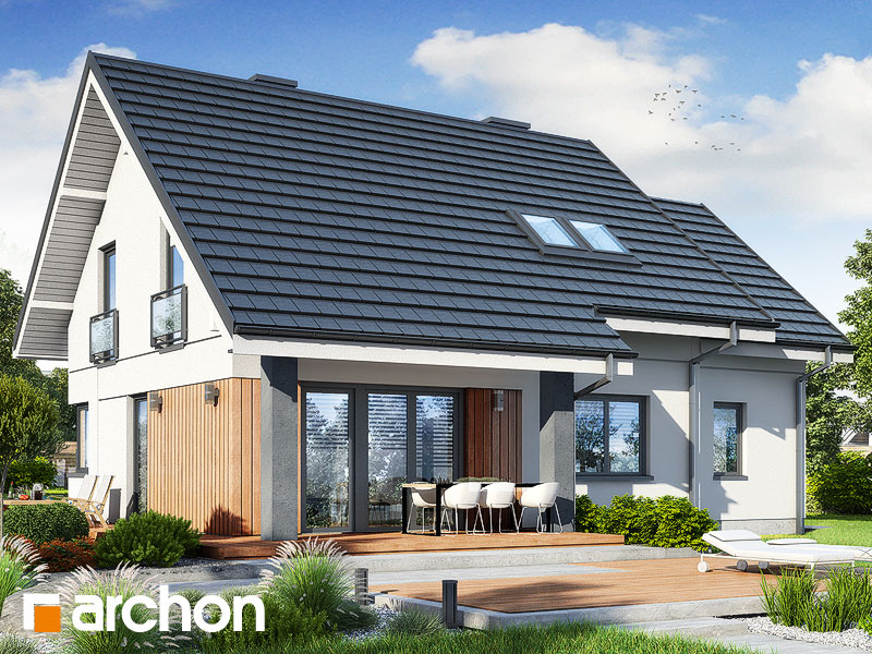 Проект будинку ARCHON+ Будинок в малинівці 2 (Г) Вид 2