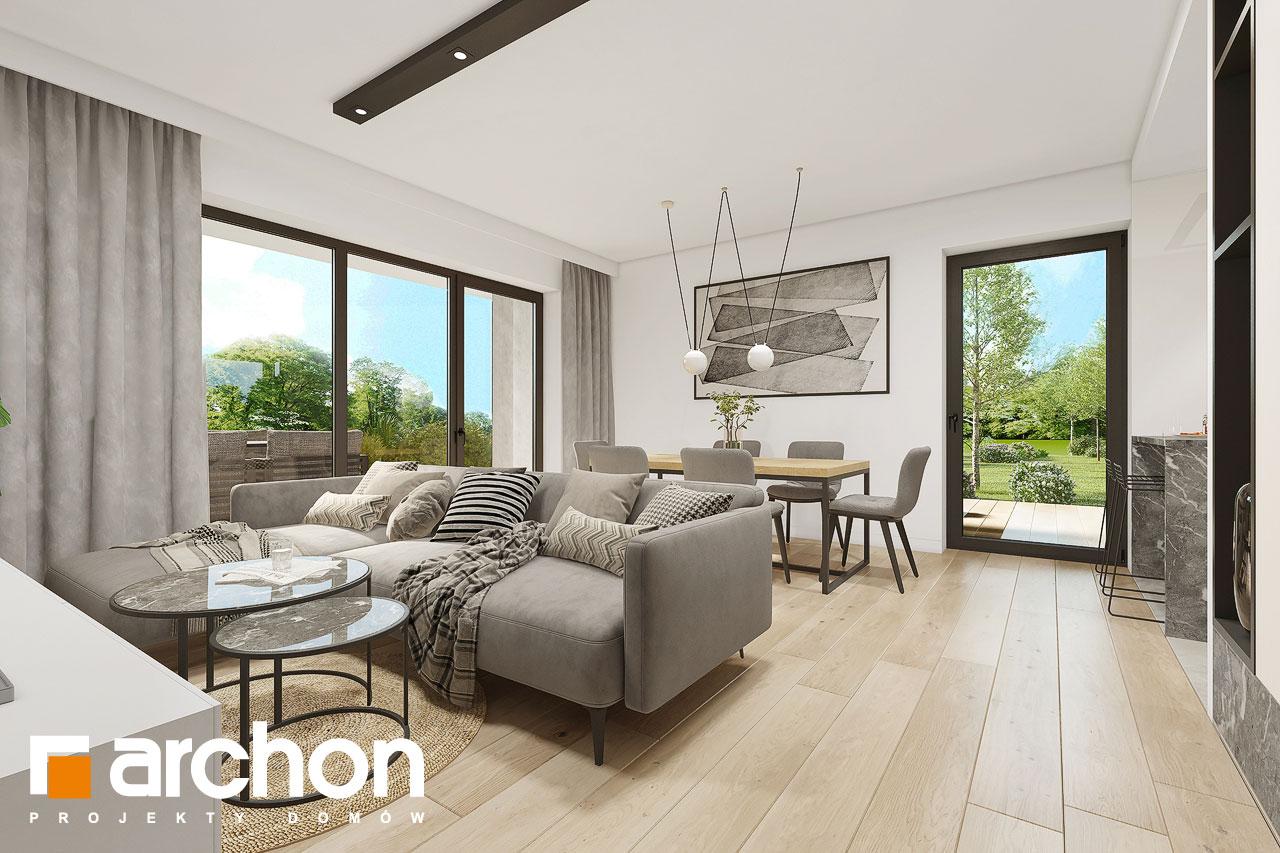 Проект будинку ARCHON+ Будинок в малинівці 2 (Г) денна зона (візуалізація 1 від 1)