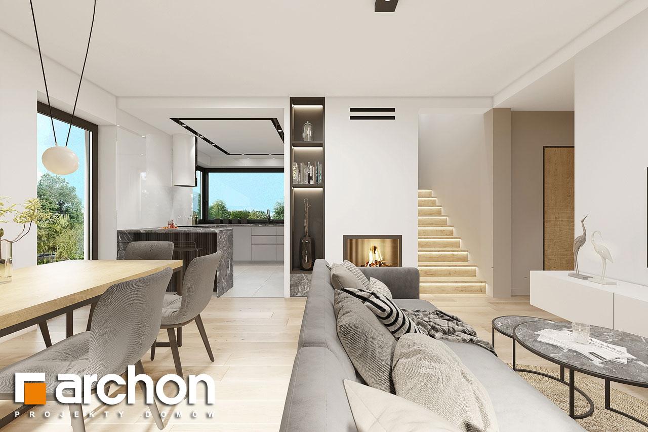 Проект будинку ARCHON+ Будинок в малинівці 2 (Г) денна зона (візуалізація 1 від 2)