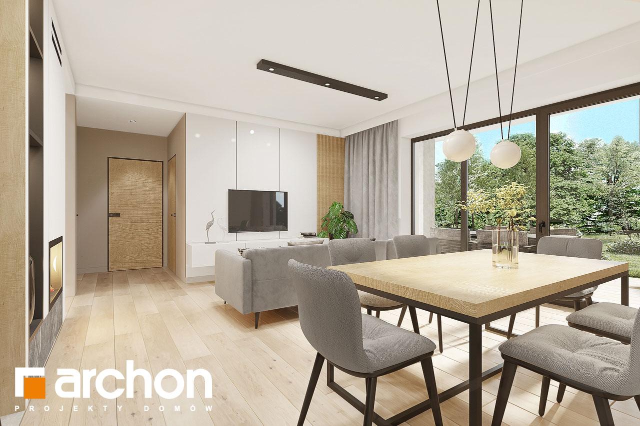 Проект будинку ARCHON+ Будинок в малинівці 2 (Г) денна зона (візуалізація 1 від 3)