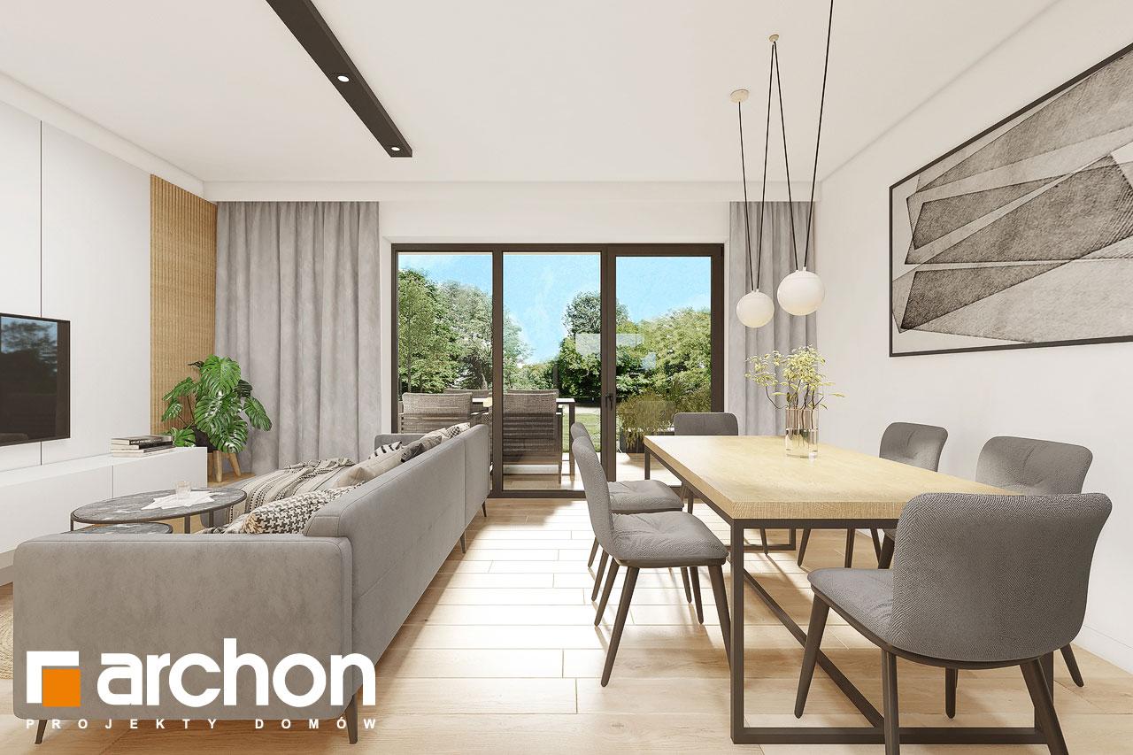 Проект будинку ARCHON+ Будинок в малинівці 2 (Г) денна зона (візуалізація 1 від 4)