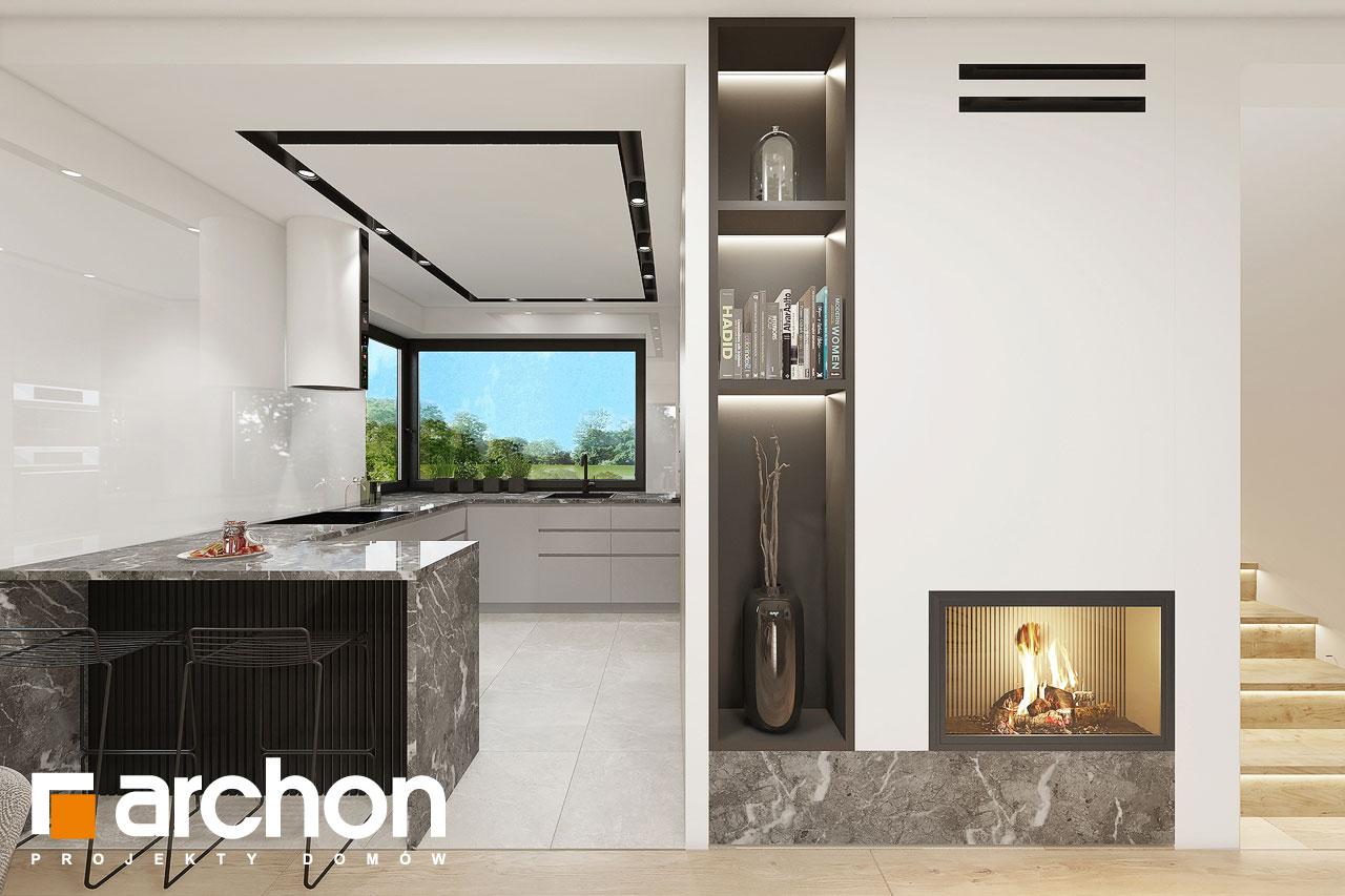 Проект будинку ARCHON+ Будинок в малинівці 2 (Г) денна зона (візуалізація 1 від 5)