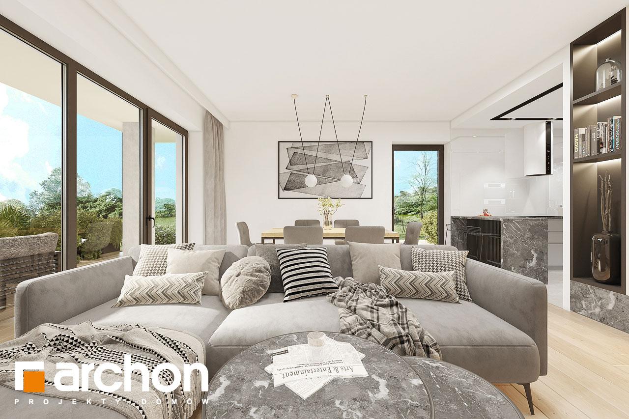 Проект будинку ARCHON+ Будинок в малинівці 2 (Г) денна зона (візуалізація 1 від 6)