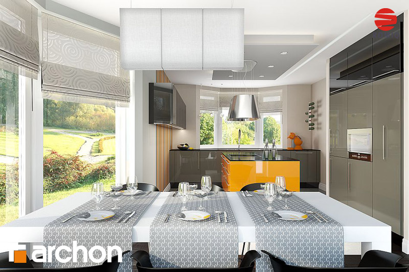 Проект будинку ARCHON+ Будинок в калатеях вер.2 аранжування кухні 1 від 1