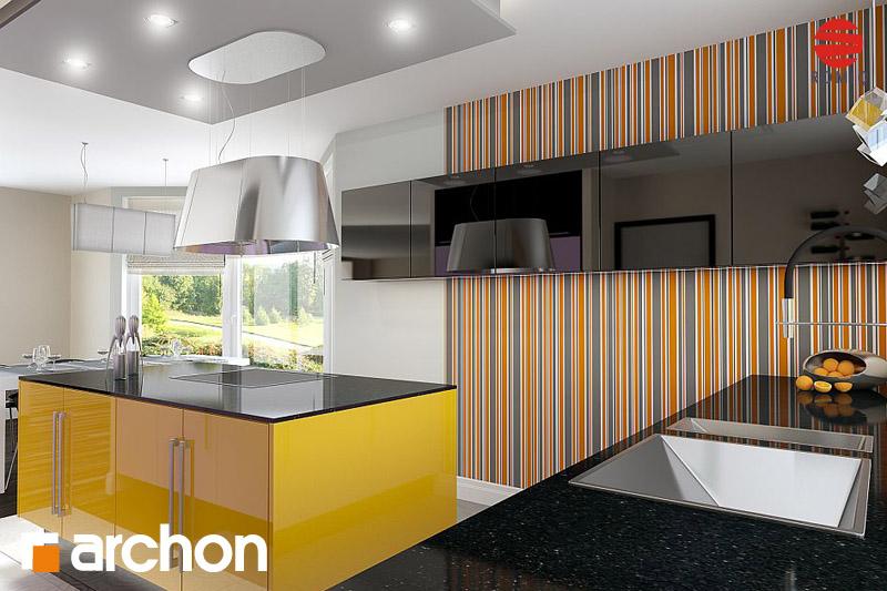 Проект будинку ARCHON+ Будинок в калатеях вер.2 аранжування кухні 1 від 3