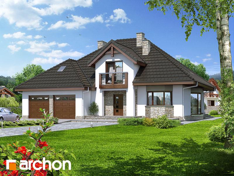 Проект будинку ARCHON+ Будинок в калатеях вер.2 Вид 1