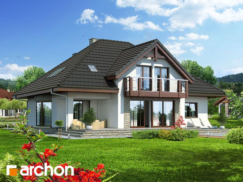Проект будинку ARCHON+ Будинок в калатеях вер.2 Вид 2