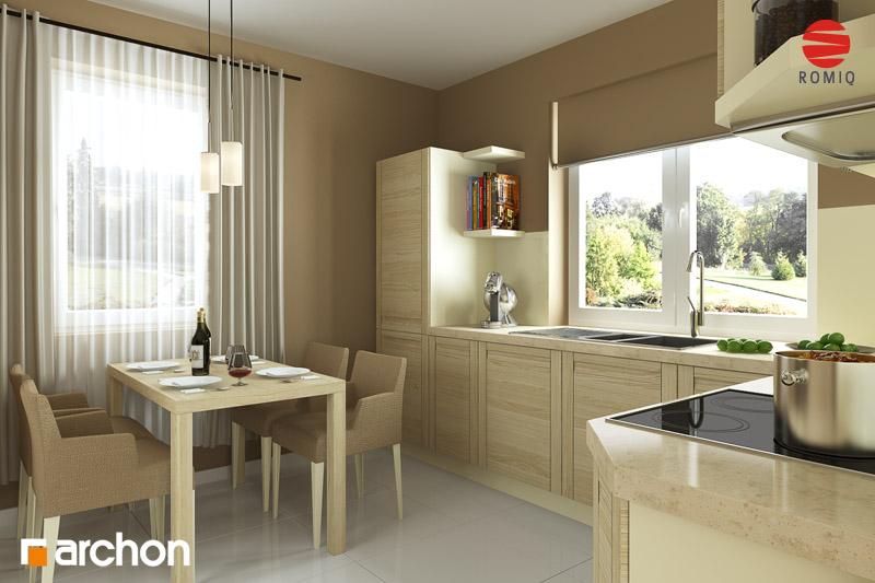Проект дома ARCHON+ Дом под красной рябиной (Г) вер.3 аранжировка кухни 1 вид 1