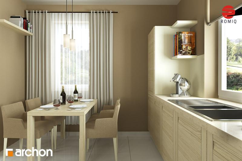 Проект дома ARCHON+ Дом под красной рябиной (Г) вер.3 аранжировка кухни 1 вид 3