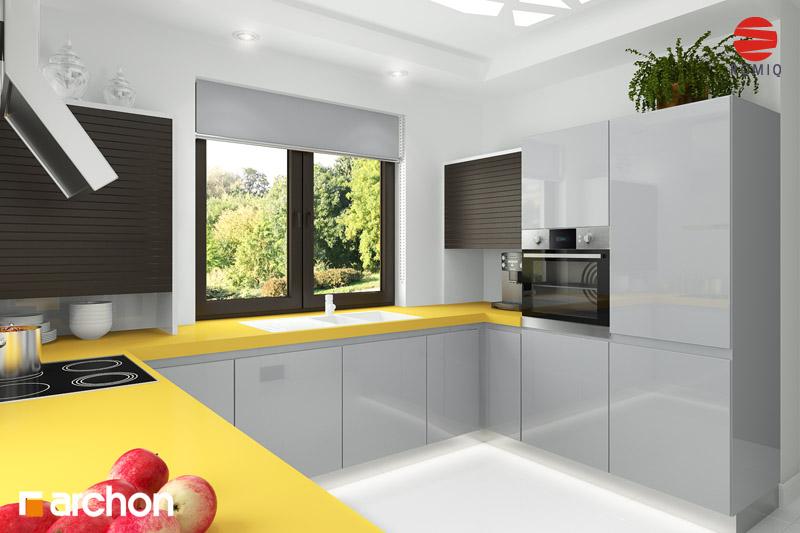 Проект дома ARCHON+ Дом под красной рябиной (Г) вер.3 аранжировка кухни 2 вид 1