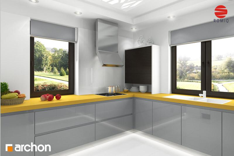 Проект дома ARCHON+ Дом под красной рябиной (Г) вер.3 аранжировка кухни 2 вид 2