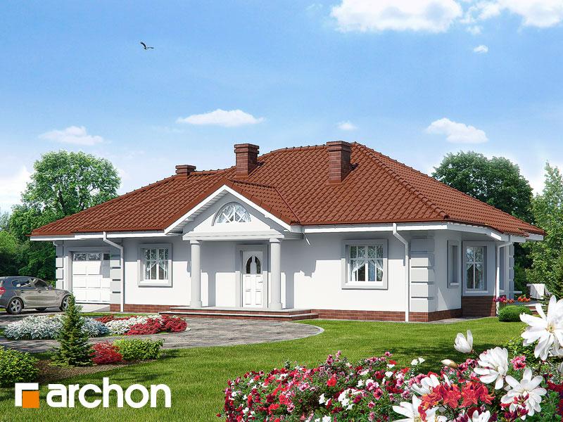 Проект будинку ARCHON+ Будинок під червоною горобиною (Г) вер.3 Вид 1