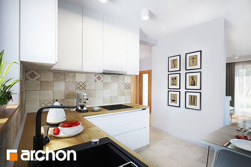 Проект будинку ARCHON+ Будинок в суниці 4 вер.2 візуалізація кухні 1 від 1