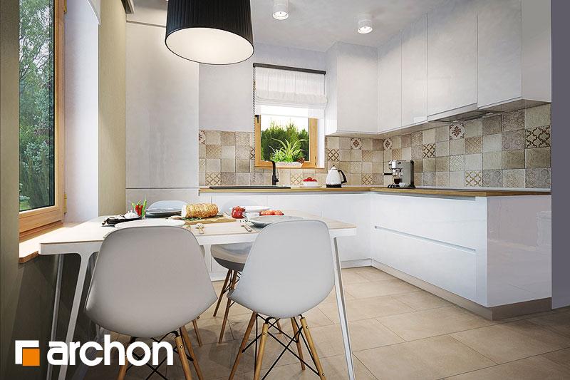 Проект будинку ARCHON+ Будинок в суниці 4 вер.2 візуалізація кухні 1 від 3